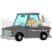 Drunk Male Alcoholic Putting Others at Risk While Operating a Vehicle and Drinking a Bottle of Beer Clipart Illustration © Dennis Cox #12425