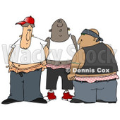 Clipart of a Group of Gangsters With Saggy Pants - Royalty Free Illustration © Dennis Cox #1242877