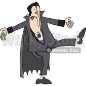 Clipart of a Halloween Dracula Vampire Dancing - Royalty Free Vector Illustration © djart #1267149