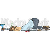 Clipart of a Drunk White Business Man Passed out on the Floor with His Butt up in the Air - Royalty Free Vector Illustration © Dennis Cox #1270897