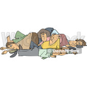 Clipart of a Pile of White People - Royalty Free Vector Illustration © Dennis Cox #1271646
