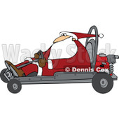 Clipart of Santa Driving a Christmas Go Kart - Royalty Free Vector Illustration © djart #1273849