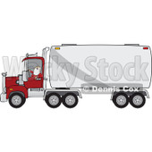 Clipart of a Christmas Santa Truck Driver in His Pajamas - Royalty Free Vector Illustration © djart #1274406