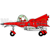 Clipart of Santa Claus Piloting a Christmas Star Fighter - Royalty Free Illustration © Dennis Cox #1278092
