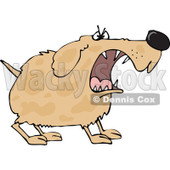 Clipart of a Tough Brown Spotted Dog Barking - Royalty Free Vector Illustration © Dennis Cox #1289689