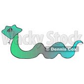 Colorful Green and Blue Snake Clipart Illustration © Dennis Cox #12926