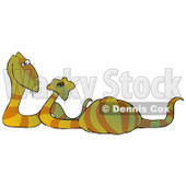 Happy Snake Couple Expecting Eggs Clipart Illustration © Dennis Cox #12929