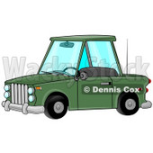 Green Two Door Car Clipart Illustration © Dennis Cox #12933