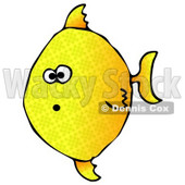 Shocked Yellow Angelfish Swimming Underwater Clipart Graphic Illustration © Dennis Cox #12945