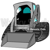 Gray Bobcat Skid Steer Loader With Blue Window Tint Clipart Graphic Illustration © Dennis Cox #12954