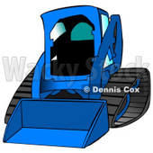 Blue Bobcat Skid Steer Loader With Blue Window Tint Clipart Graphic Illustration © djart #12957
