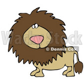 Big Male Lion Looking at the Viewer Clipart Illustration © djart #13023