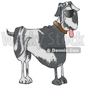 Cute Great Dane Doggy Clipart Illustration © Dennis Cox #13222