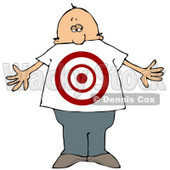 Man With a Target on His Stomach Clipart Illustration © djart #13227