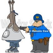 Clipart of a Cartoon Police Officer Arresting a Man - Royalty Free Vector Illustration © djart #1353051