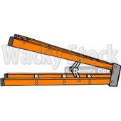 Clipart of a Cartoon Orange Step Ladder on Its Side - Royalty Free Vector Illustration © djart #1403584