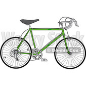 Clipart of a Green 10 Speed Bicycle - Royalty Free Vector Illustration © djart #1409932