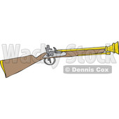 Clipart of a Cartoon Blunderbuss Gun - Royalty Free Vector Illustration © djart #1433907