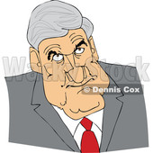Clipart of a Caricature of Robert Mueller - Royalty Free Vector Illustration © djart #1473748
