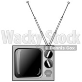 Clipart of a Retro Television - Royalty Free Illustration © djart #1529409