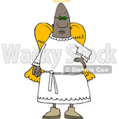 Clipart of a Black Male Angel - Royalty Free Vector Illustration © djart #1567299