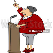 Cartoon White Female Politician at a Podium © djart #1617706