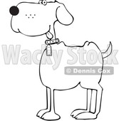 Cartoon Happy Black and White Dog © djart #1617711