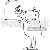 Cartoon Black and White Dog Nailing a Sign © djart #1617966