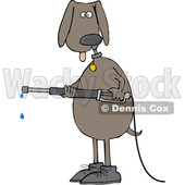 cartoon dog pressure washing © djart #1618541