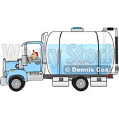 Man Driving a Water Delivery Truck © djart #1618776