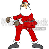 Cartoon Christmas Santa Dancing the Floss © djart #1620302
