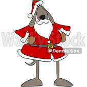 Cartoon Santa Dog © djart #1620385