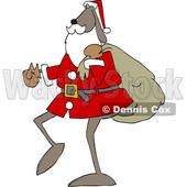 Cartoon Santa Dog Carrying a Sack © djart #1621816