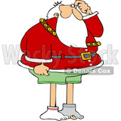 Cartoon Christmas Santa Claus Missing His Pants © djart #1621862