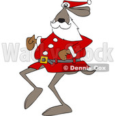 Cartoon Santa Dog Running © djart #1622068