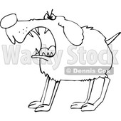 Cartoon Black and White Barking Guard Dog © djart #1622479