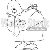 Cartoon Lineart Black Business Man Under Arrest © djart #1622481