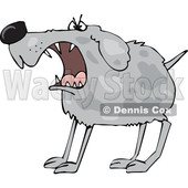 Cartoon Barking Guard Dog © djart #1622482