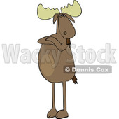 Cartoon Defiant Moose with Folded Arms © djart #1622766