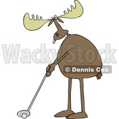 Cartoon Moose Golfing © djart #1622769