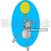 Cartoon Dog Floating with a Balloon © djart #1622770