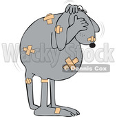 Cartoon Battered Dog Covering His Face © djart #1622771