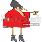 Cartoon Chubby Angry White Woman Pointing © djart #1624137