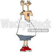 Cartoon White Man Being Held up © djart #1624688
