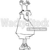 Cartoon Black and White Man Being Held up © djart #1624689