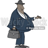 Cartoon Black Male Debt Collector Holding His Hand out © djart #1625491