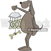 Cartoon Dog Holding a Bone Wind Chime © djart #1625825