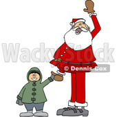 Santa Holding a Boys Hand and Waving © djart #1627409