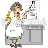 Cartoon Female Eye Doctor Pointing to a Chart © djart #1627660