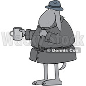 Cartoon Begging Homeless Dog Holding out a Cup © djart #1627663